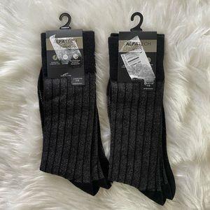 2 Pairs of Alfani Men's Striped Socks